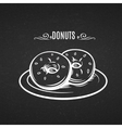 Hand drawn donuts in style chalkboard vector image