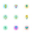 Light icons set pop-art style vector image