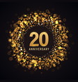 20 years anniversary isolated design vector image vector image
