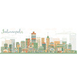 Abstract Indianapolis Skyline with Color Buildings vector image