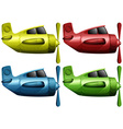Airplanes in four different colors vector image vector image