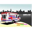 al 0743 ambulance vector image vector image