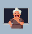 angry teacher screaming in front class vector image vector image