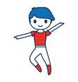 ballet dancer boy icon vector image