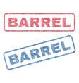 barrel textile stamps vector image vector image