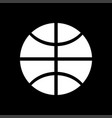 basketball ball white color icon vector image vector image