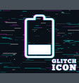 battery low level sign icon electricity symbol vector image