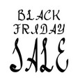 black friday lettering holiday calligraphy black vector image