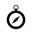 black icon cute compass vector image