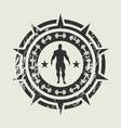 bodybuilding club emblem vector image vector image