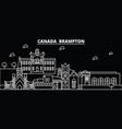 brampton silhouette skyline canada - brampton vector image vector image
