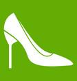 bride shoes icon green vector image vector image