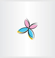 butterfly icon clipart design vector image vector image