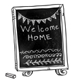 Chalkboard Welcome home sign vector image vector image