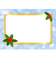christmas card frame design template vector image vector image