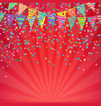 color birthday banner vector image