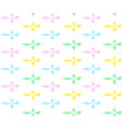 colorful rhombs in row with zigzag vector image