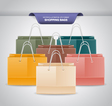 Colorful Shopping Bags vector image