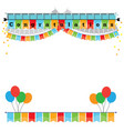congratulations with bunting flags image vector image vector image