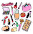 cosmetics beauty fashion makeup elements vector image vector image