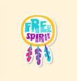 creative text free spirit and ethnic elements vector image vector image
