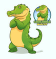 crocodile mascot design vector image