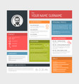 cv resume template dashboard vector image vector image