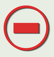 dead end street sign vector image vector image