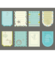 design elements for baby scrapbook - cute tags wit vector image vector image
