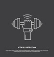 dumbbell gain lifting power sport icon line vector image