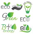 Ecology and Bio Energy Icons vector image vector image