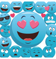 emoticons pattern background vector image