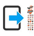 exit door icon with lovely bonus vector image vector image