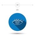 Eye icon Human vision sign vector image