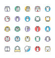 Fashion and Clothes Cool Icons 8 vector image vector image