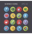 Flat icons for science and education vector image vector image