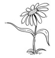 flowering daisy plant cartoon character pointing vector image