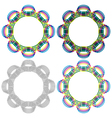Four circular shapes same as a wicker pattern vector image vector image