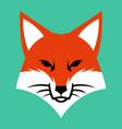 fox face logo icon vector image vector image