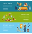 Garbage Concept Banner vector image vector image