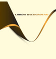gold and brown line background vector image