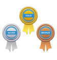 gold silver and bronze awards vector image
