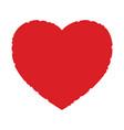 grunge heart element vector image vector image