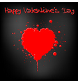 grunge Valentine's day card vector image vector image