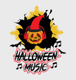 halloween music t-shirt design for party vector image vector image