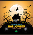 halloween night party orange holiday festival vector image vector image