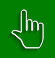 hand sign paper whitish icon vector image vector image