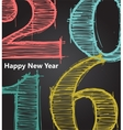 Happy new 2016 year Seasons Greetings vector image