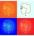headhpone like a women face vector image vector image