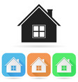 home icon colored square icons with house vector image